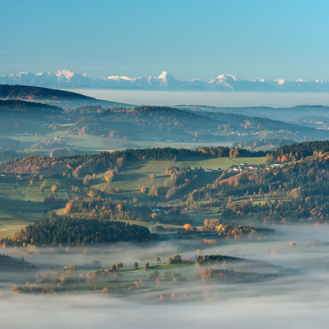 """View of the Alps"" stock image"