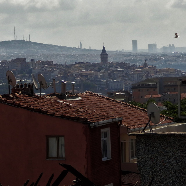 """View of Istanbul and Galata tower"" stock image"