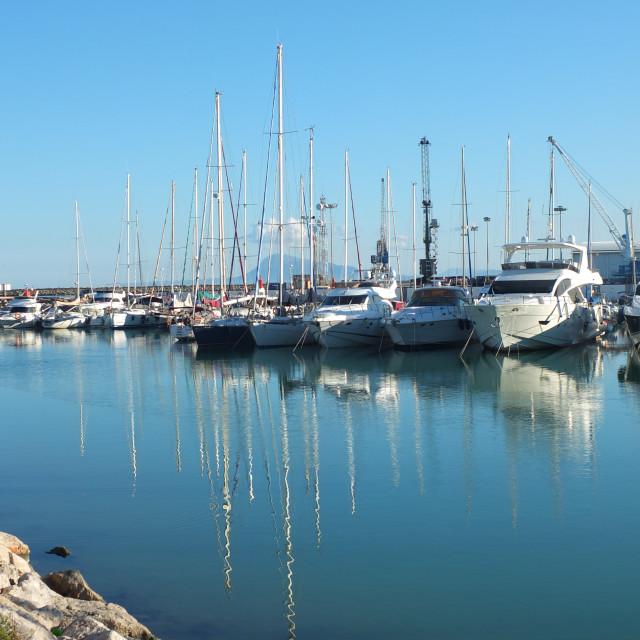 """Gandia Yacht Club Marina"" stock image"