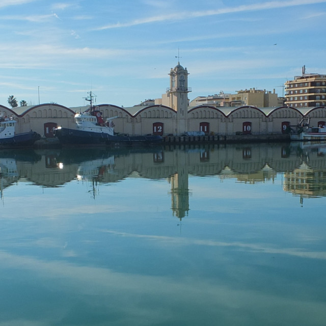 """Grau de Gandia Reflections"" stock image"