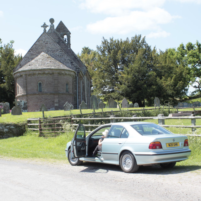 """Church at Kilpeck, Herefordshire"" stock image"