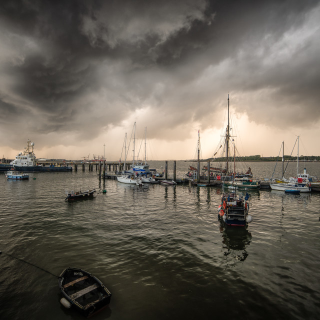 """Storm Approaching Harwich"" stock image"