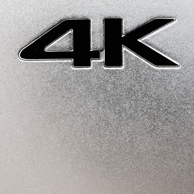 """4K Label"" stock image"