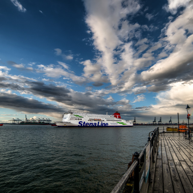 """Stena Hollandica Sails Into Harwich"" stock image"