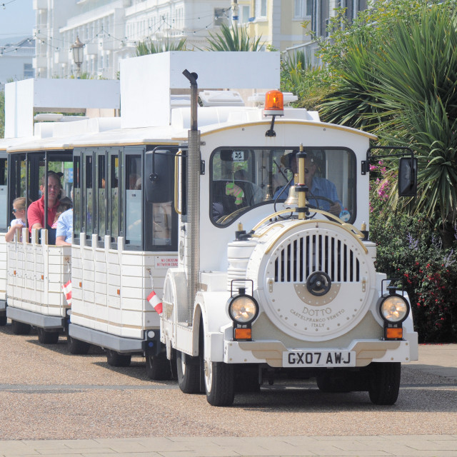 """""""Dotto Train, Eastbourne, East Sussex, UK"""" stock image"""
