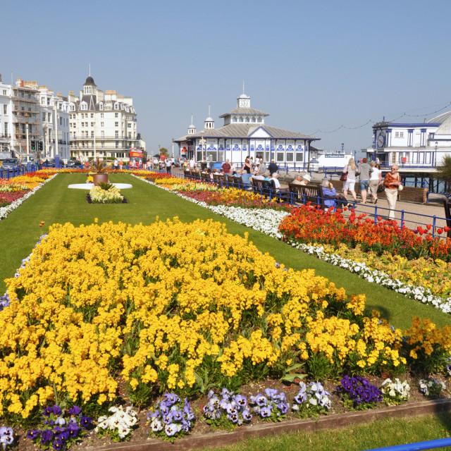 """Carpet Gardens, Eastbourne, East Sussex."" stock image"