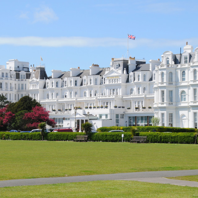 """""""The Grand Hotel, Eastbourne, East Sussex."""" stock image"""