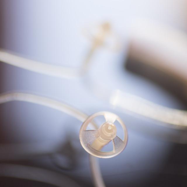 """Audiophone digital hearing aid"" stock image"