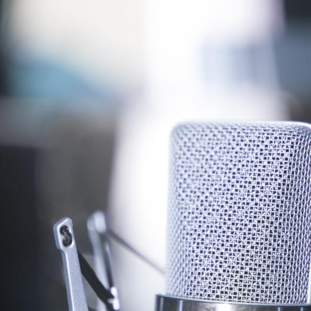 """""""Recording studio voice microphone"""" stock image"""