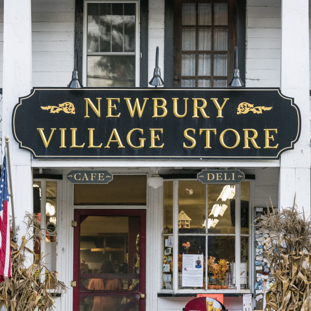 """Charming village store, Newbury, Vermont, USA"" stock image"