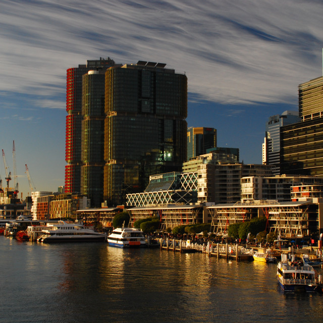 """Darling Harbour & Kings Wharf Waterfront"" stock image"