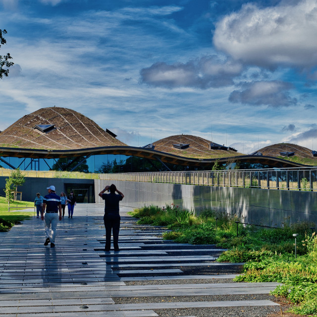 """The Macallan Distillery and Visitor Centre"" stock image"
