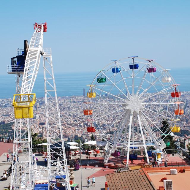 """Tibidabo amusement park, Barcelona"" stock image"