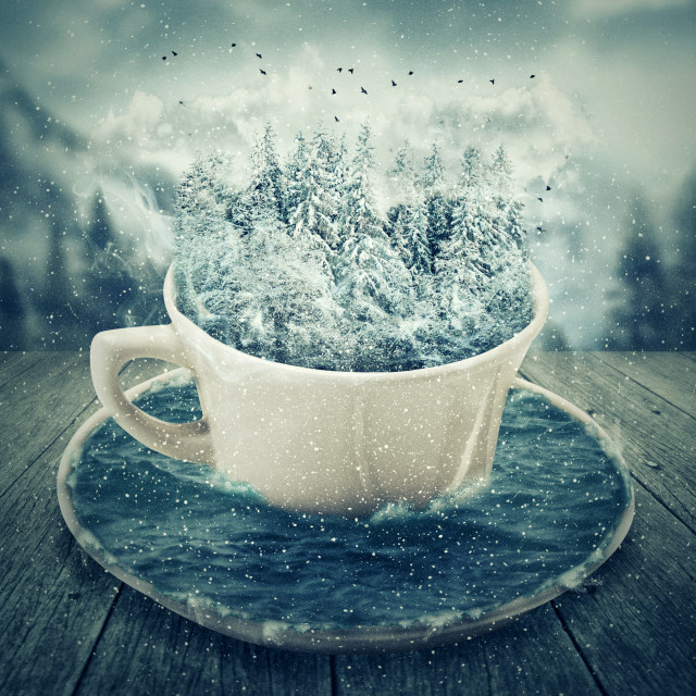 """""""winter holiday cup"""" stock image"""