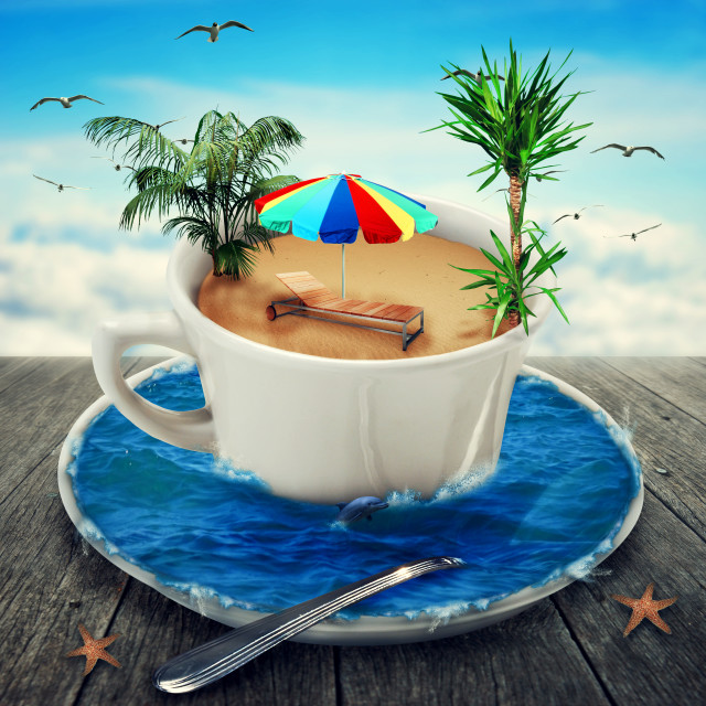 """""""summer holiday cup"""" stock image"""