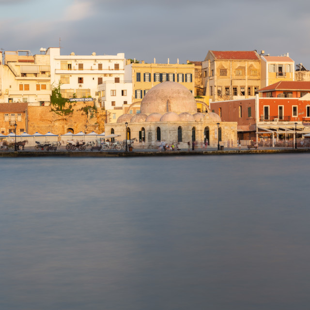 """""""Chania city old port and buildings"""" stock image"""