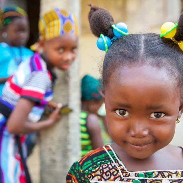 """Children and Childhood in the Serabu area - Sierra Leone II"" stock image"