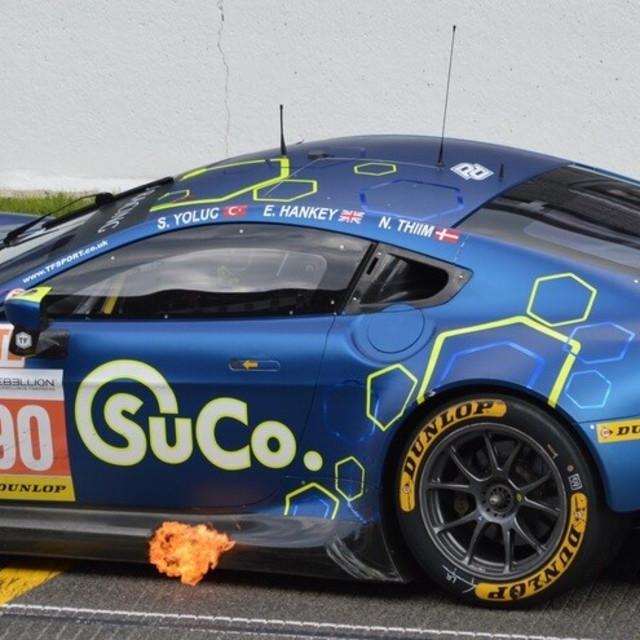 """Aston Martin Flames"" stock image"