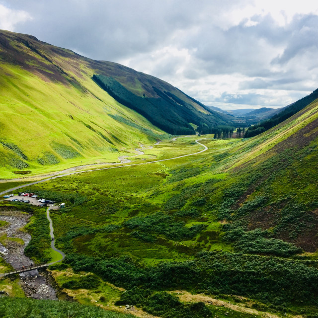 """Beautiful Scottish scenery - Moffat"" stock image"