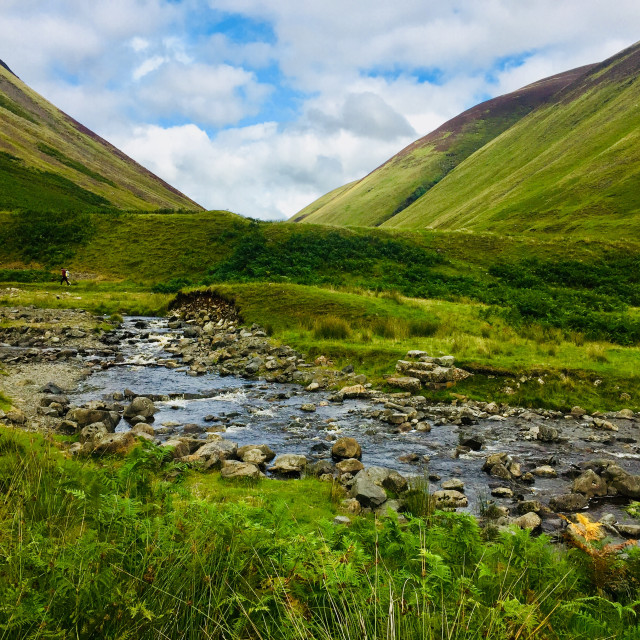 """Beautiful Scottish scenary - Moffat"" stock image"