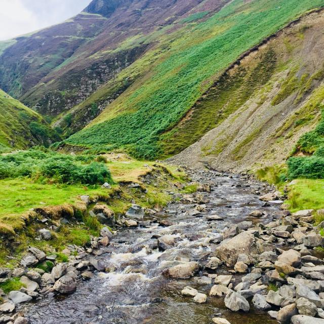 """""""Beautiful Scottish scenery - Moffat"""" stock image"""