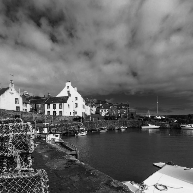 """Crail harbour Fife"" stock image"