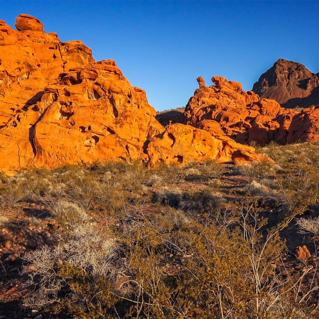 """""""Redstone in the Lake Mead National Recreation Area"""" stock image"""