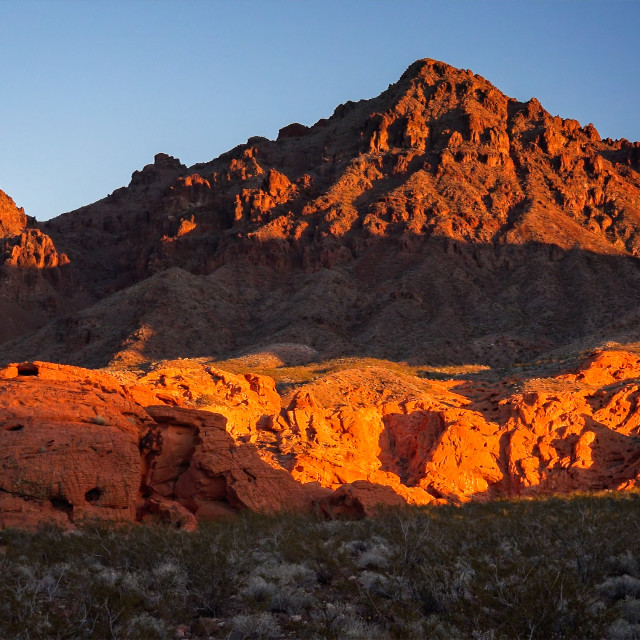 """""""Lake Mead National Recreation Area Redstone"""" stock image"""