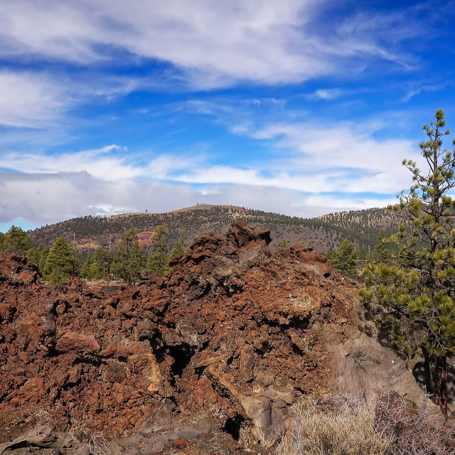 """""""Ancient Lava Flow at Sunset Crater National Monument"""" stock image"""