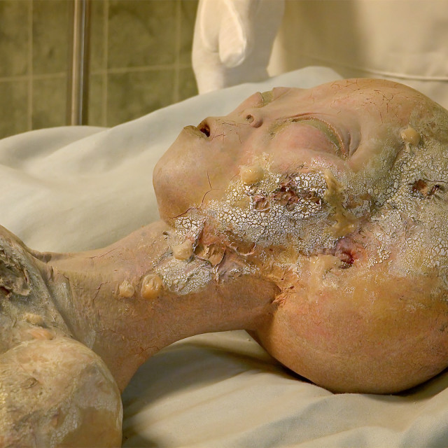"""Body of Alien Crash Victim at the International UFO Museum and Research Center"" stock image"