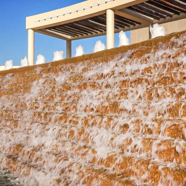 """""""Water Fountains at Bayfront Science Park in Corpus Christi, Texas"""" stock image"""