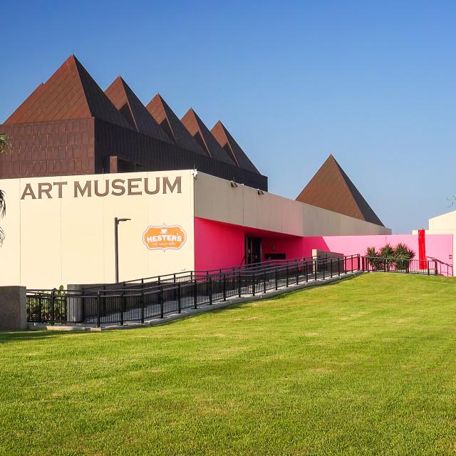 """Art Museum of South Texas in Corpus Christi"" stock image"