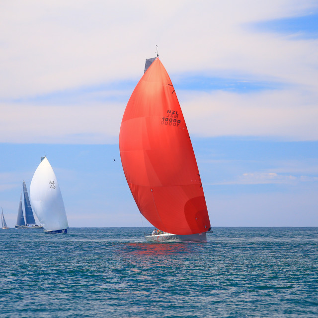 """""""Red Sails"""" stock image"""