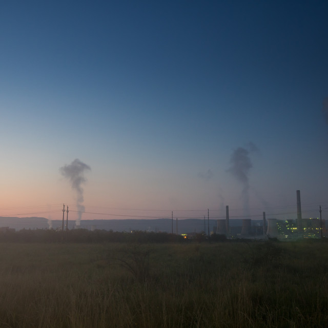 """Industrial pollution in the morning"" stock image"