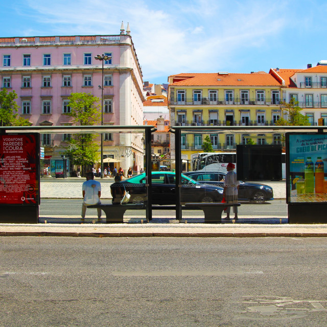 """Street in Lisbon"" stock image"