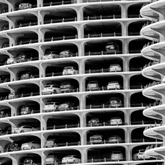 """Marina City: Downtown Chicago"" stock image"