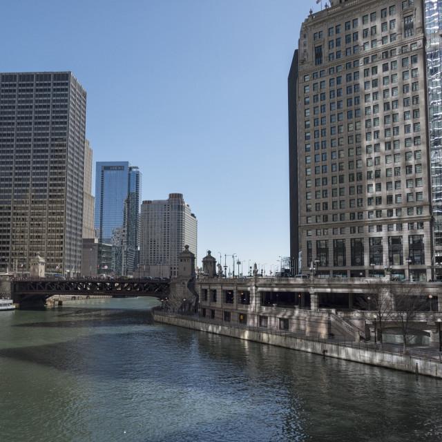 """Chicago river walk"" stock image"