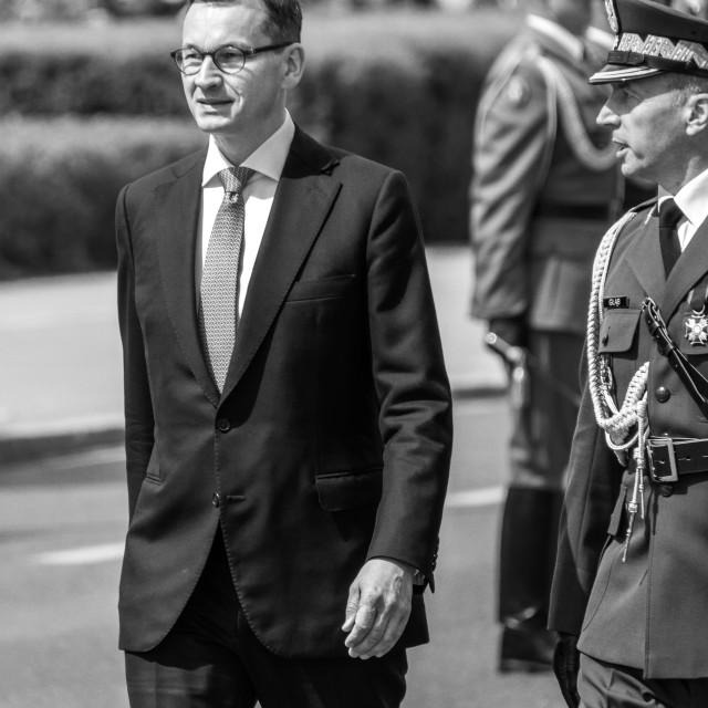 """Morawiecki - Poland's PM"" stock image"