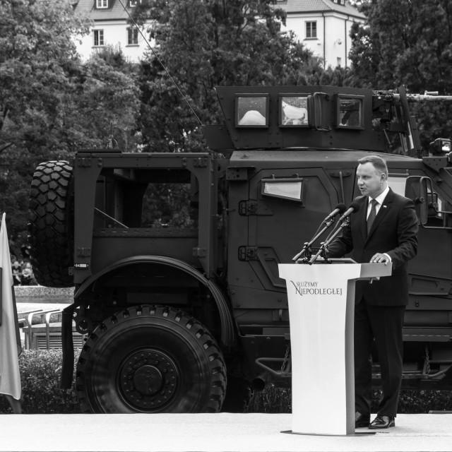 """Duda - President of Poland"" stock image"