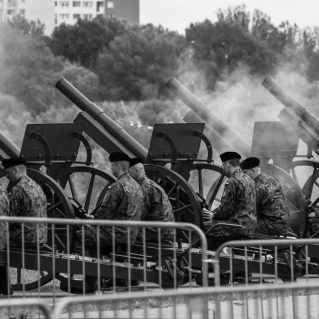 """Artillery fire"" stock image"