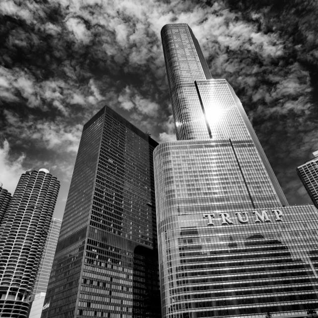 """Trump International Hotel & Tower (Chicago)"" stock image"