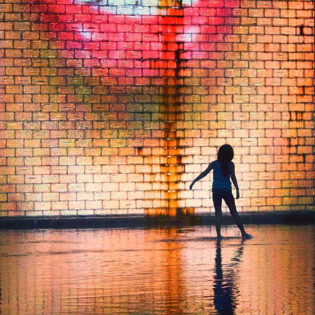 """Video Sculpture Sensation: Crown Fountain, Chicago"" stock image"