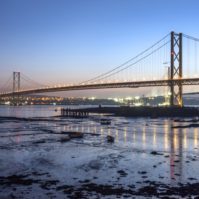 """Forth Road Bridge at Dusk"" stock image"