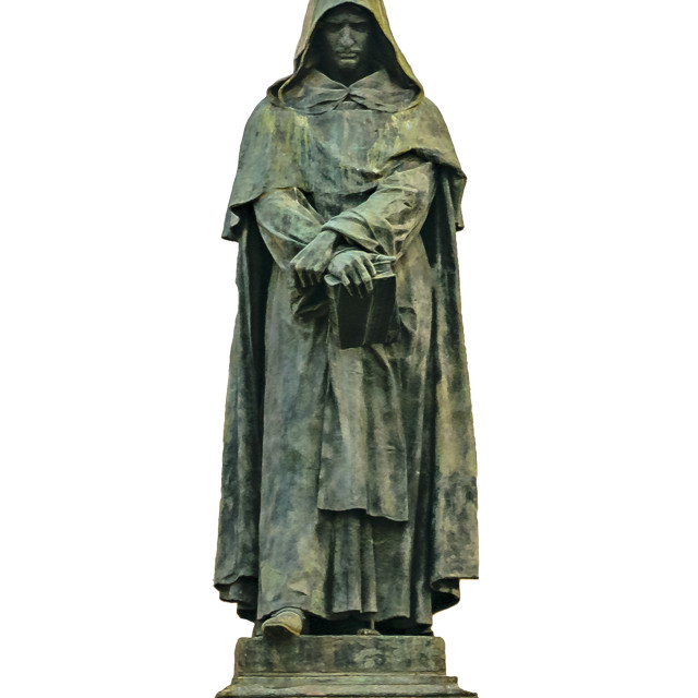 """Giordano Bruno Sculpture Isolated Photo"" stock image"