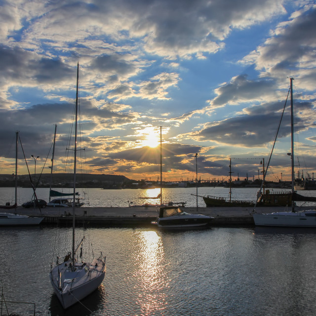 """""""Yachts and boats"""" stock image"""