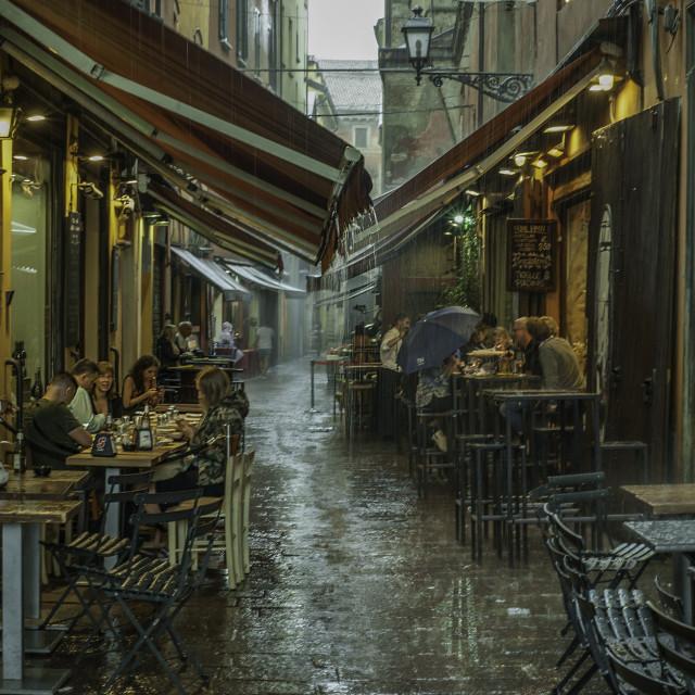 """Summer shower in Bologna"" stock image"
