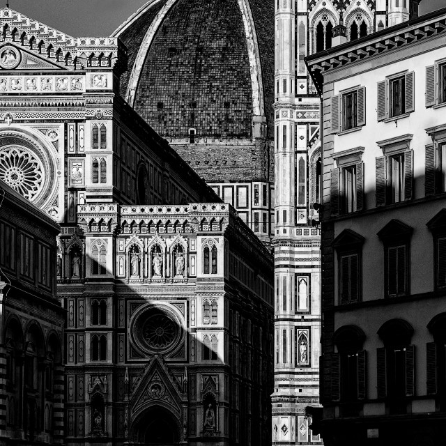"""""""Florence in B&W"""" stock image"""