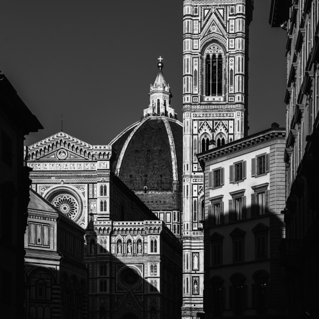 """Shadows of Florence"" stock image"