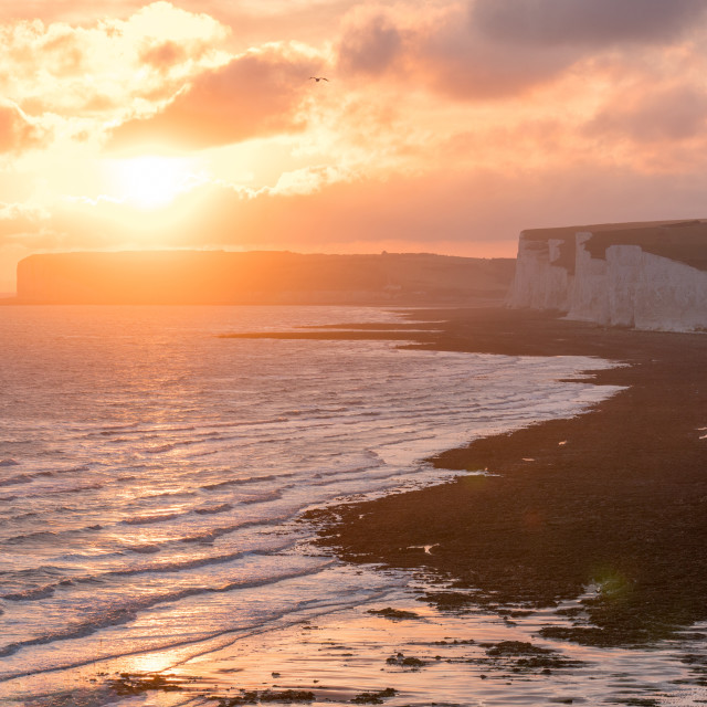"""Birling Gap"" stock image"