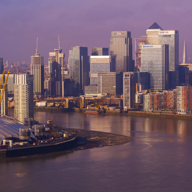 """Docklands London"" stock image"